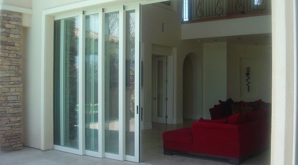 Four panel sliding patio doors sliding patio door stack for Pocket sliding glass doors