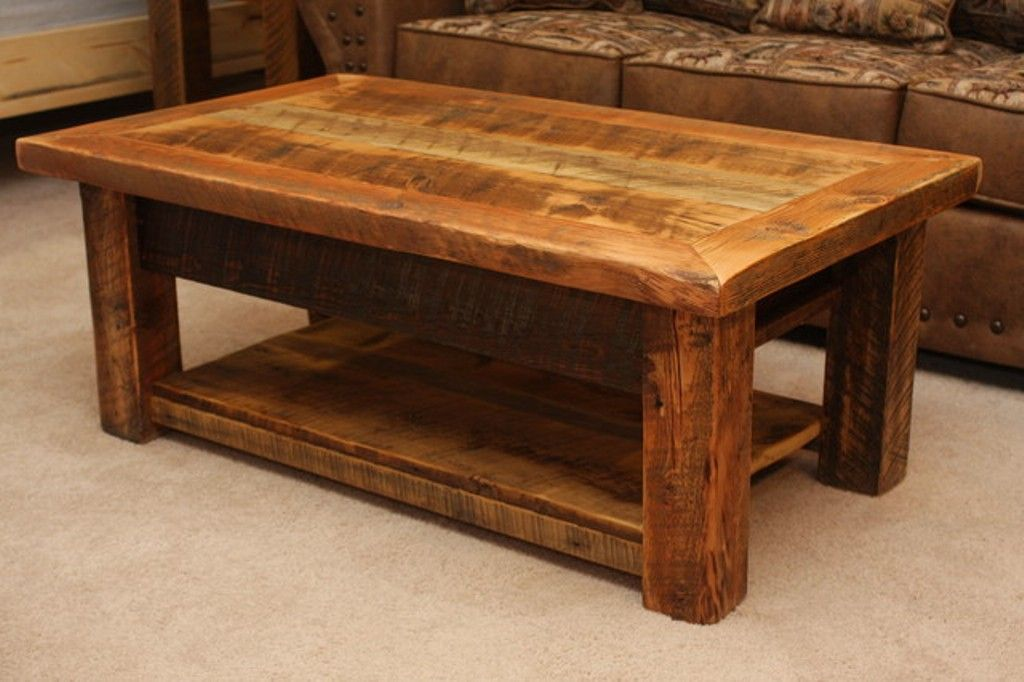 Image Of Large Rustic Coffee Tables Woodworking Projects
