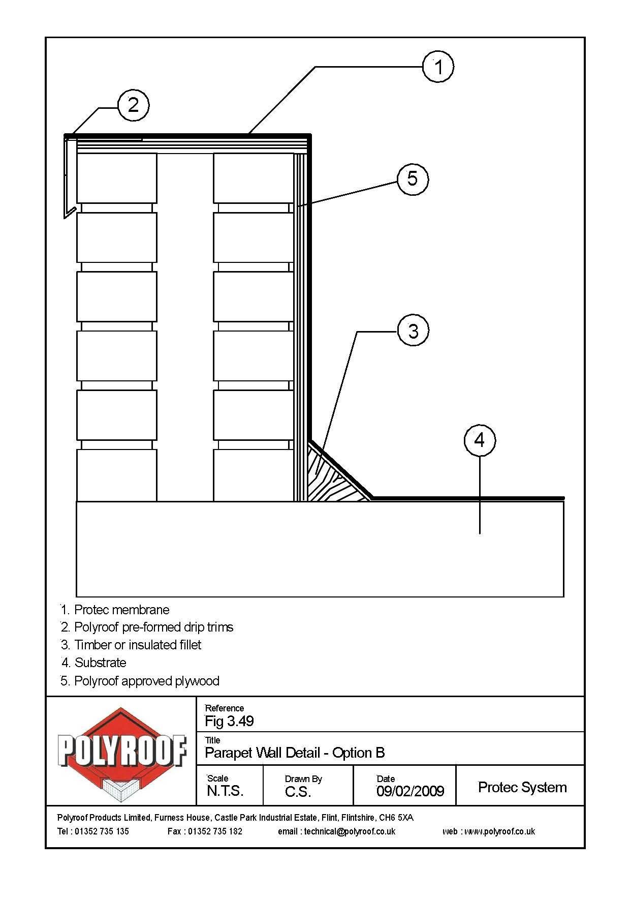 Typical Parapet Wall Detail Parapet Architecture Details Flat Roof