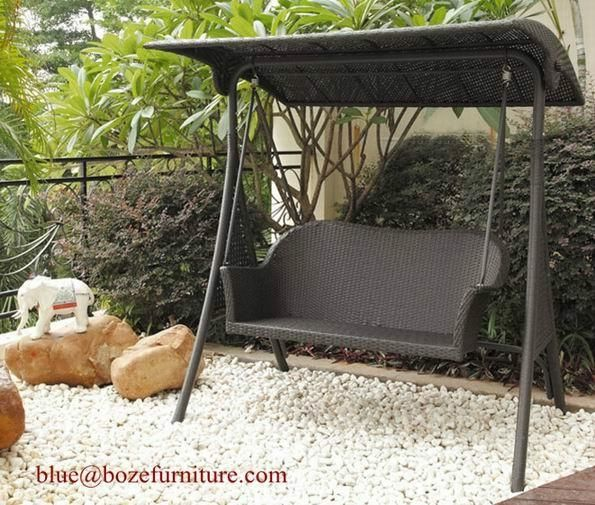 Rattan Swing Chair Outdoor Furniture Wicker Double Seats Hammock (BZ W030) 2