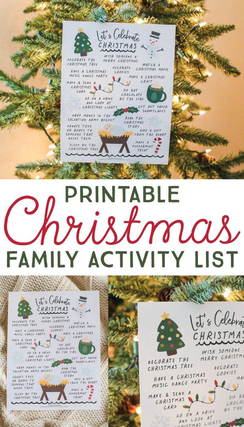Christmas Activity List - FREE Printable   Activities, Free ...