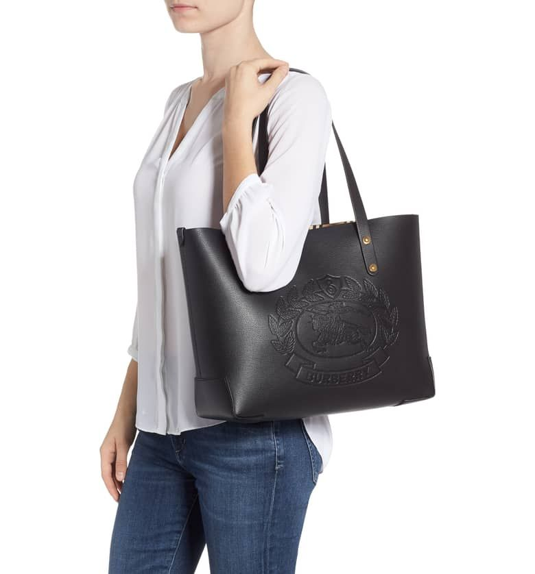 310176a73f3c Embossed Crest Small Leather Tote