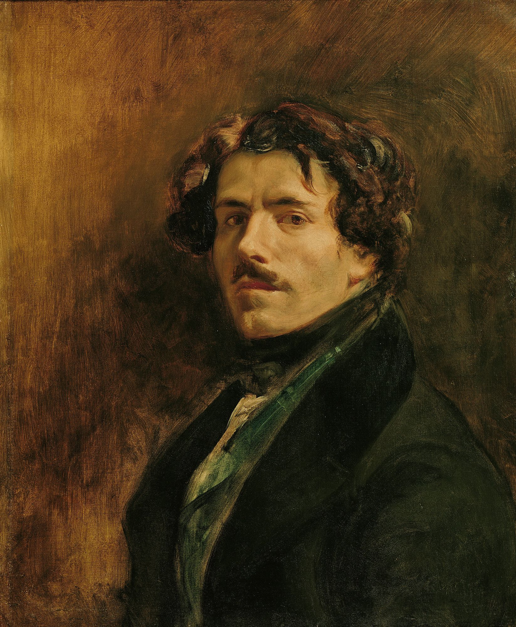 Self Portrait Eugene Delacroix Delacroix Paintings Portrait Art