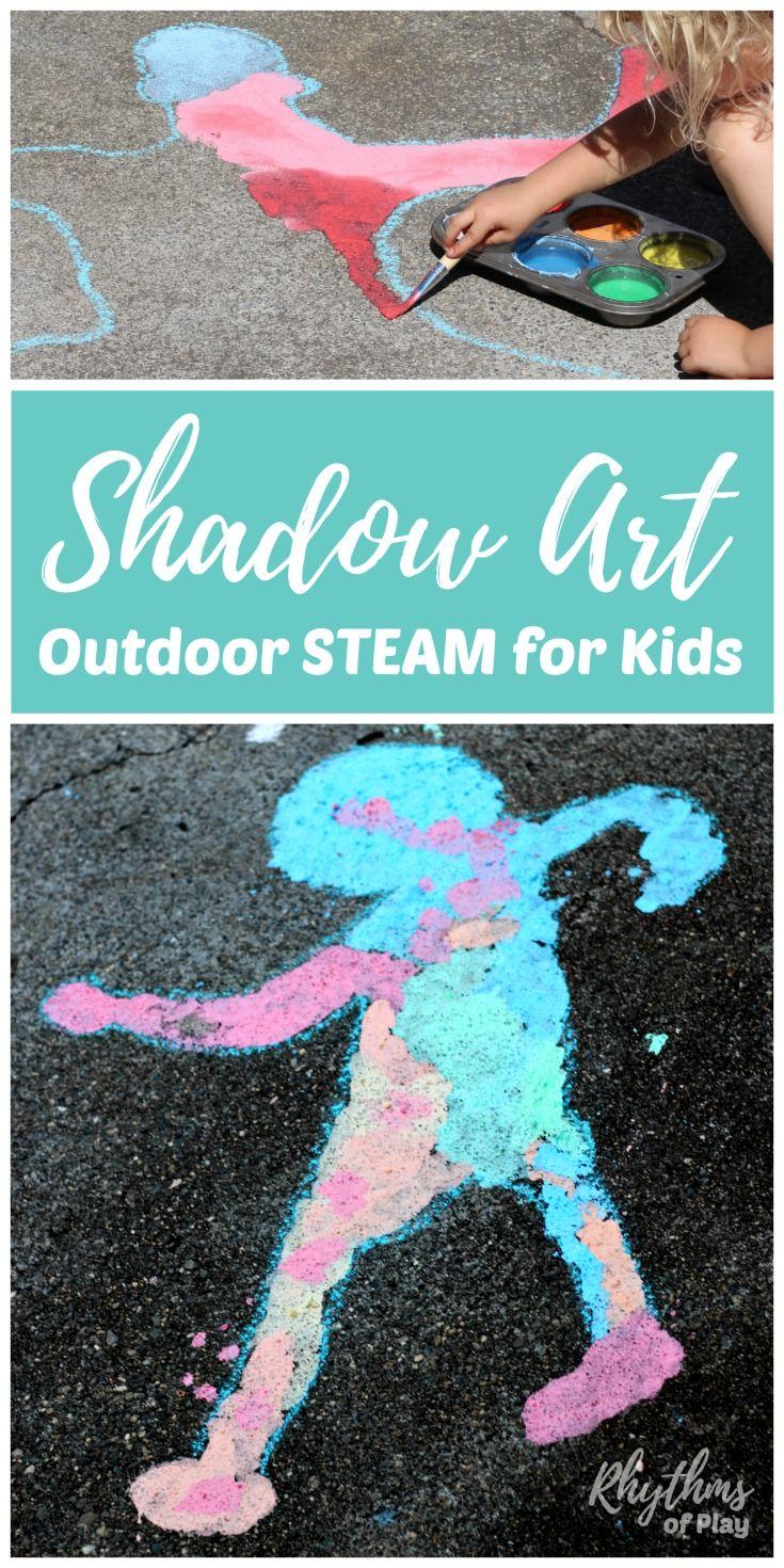 shadow art outdoor science for kids steam activities shadow art