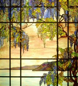 https://www.pinterest.com/pin/396809417144129604/ 'View From Oyster Bay' Stained Glass - Tiffany Artwork at the Metropolitan Museum of Art's American Decorative Arts Wing
