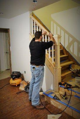 Replacing Stair Railing/newel Post.