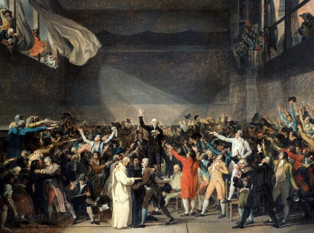 Jacques Louis David The Oath Of The Tennis Court French Revolution Classical Art Memes Revolution