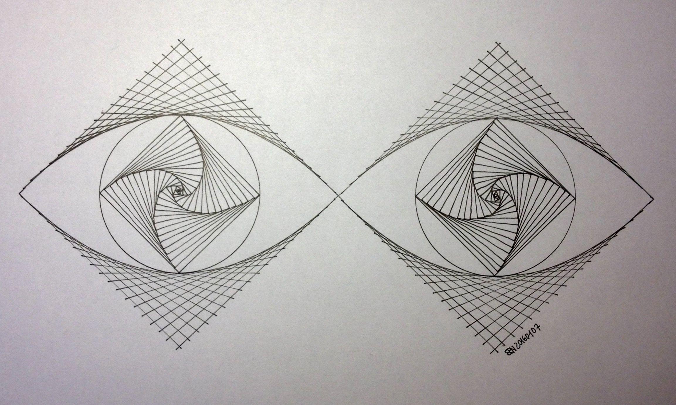 симметрия картинки с линиями неправильной формы располагался