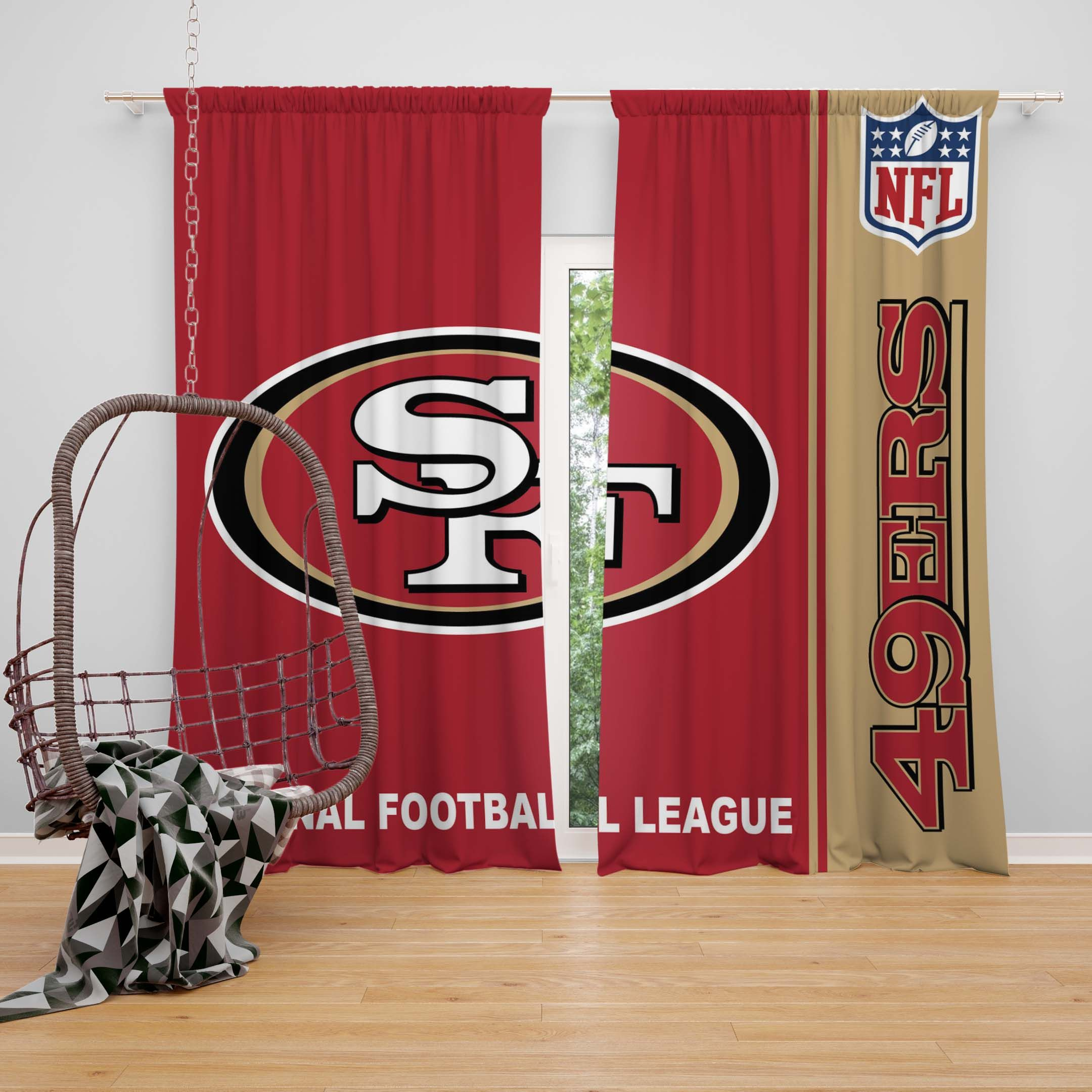 Nfl San Francisco 49ers Bedroom Curtain In 2020 Nfl San