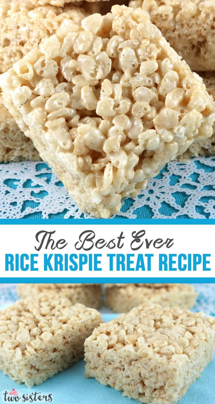 The Best Ever Rice Krispie Treat #ricekrispiestreats