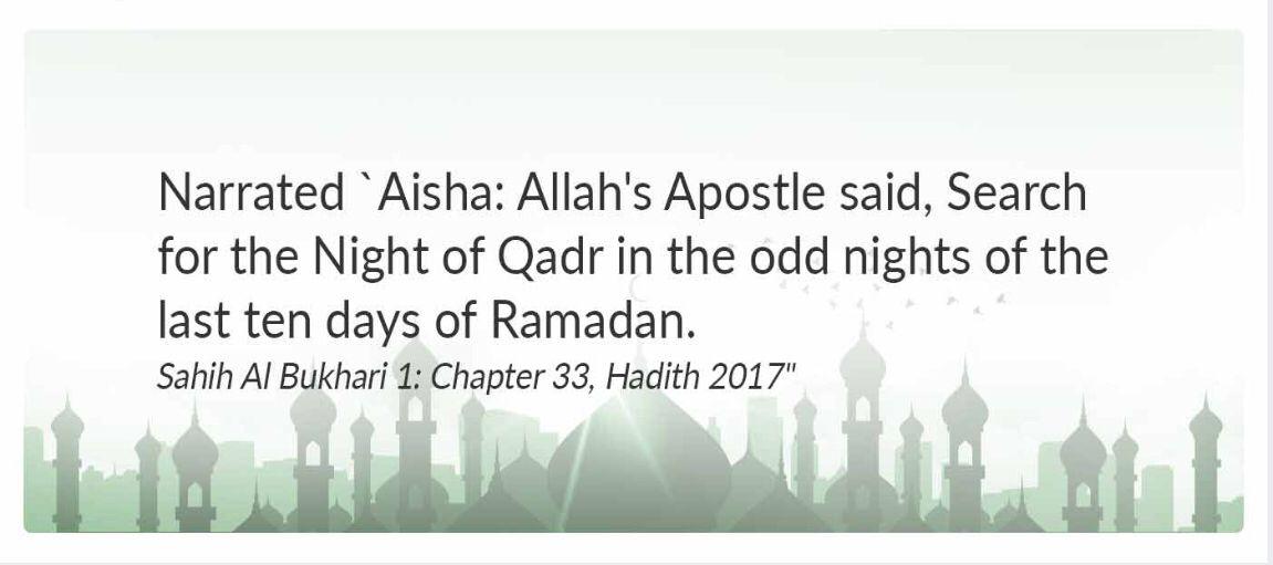 Night of laila-Tul-Qadar   Islam Saying   Home decor, Hadees