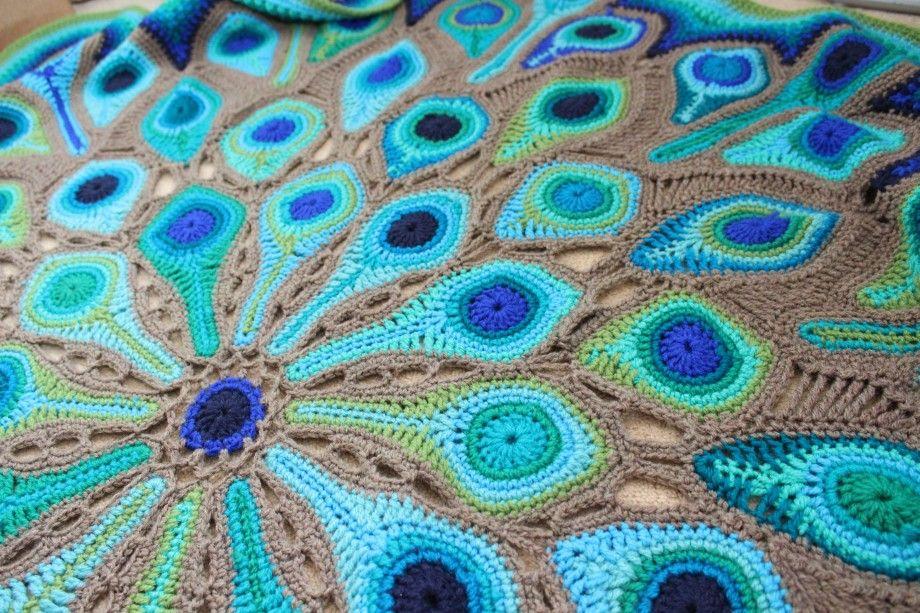 Схема хвост павлина фото вязание