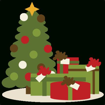 Christmas Present Clipart Christmas Illustration Christmas Tree With Gifts Christmas Scenes