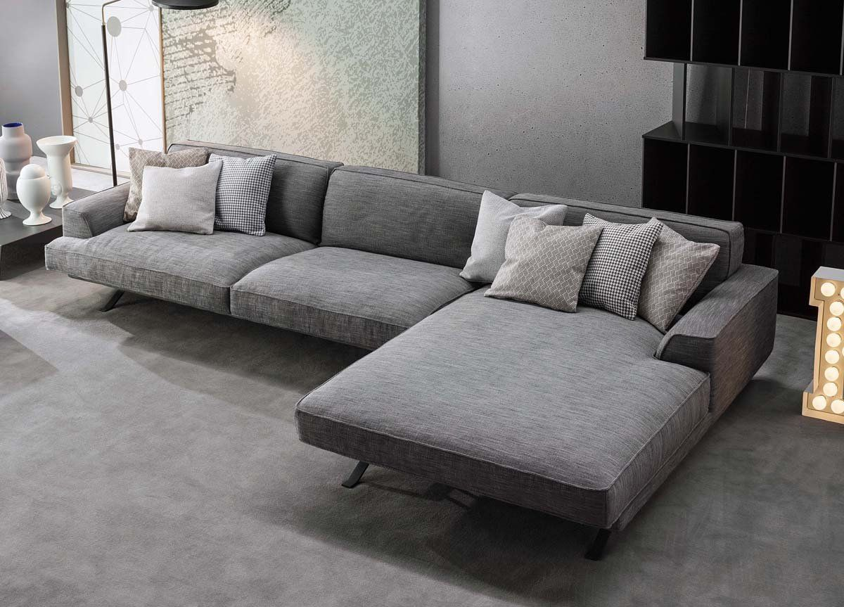 Bonaldo Slab Corner Sofa In 2020 Sofa Design Contemporary Sofa Large Sofa