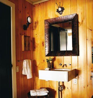 light ranchlike woods walls Bathroom Pinterest Straight guys