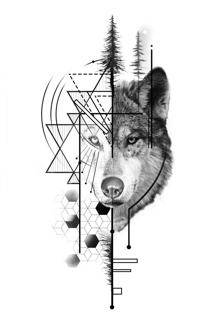 Photo of geometirc wolf tattoo design – Article Center