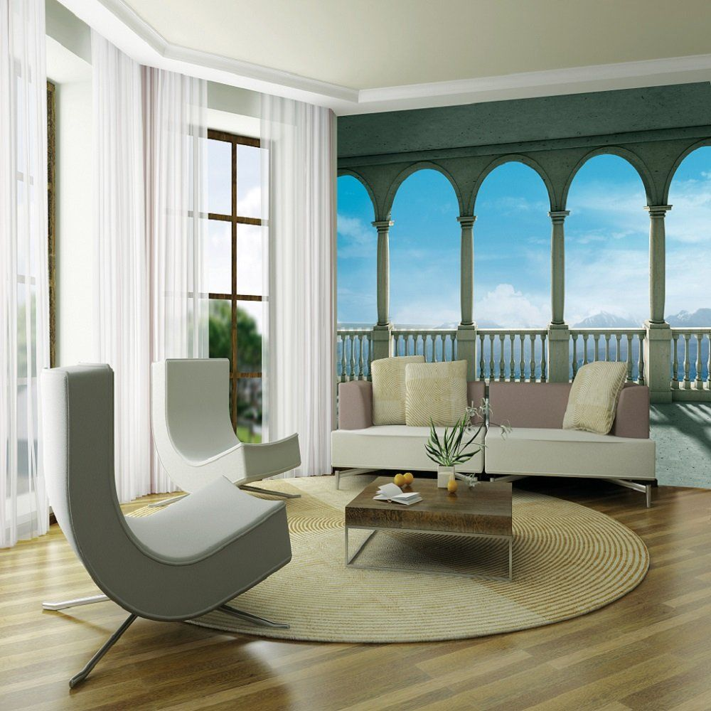 1 wall giant wallpaper mural columns panoramic sea view 3 15m x 2 32m
