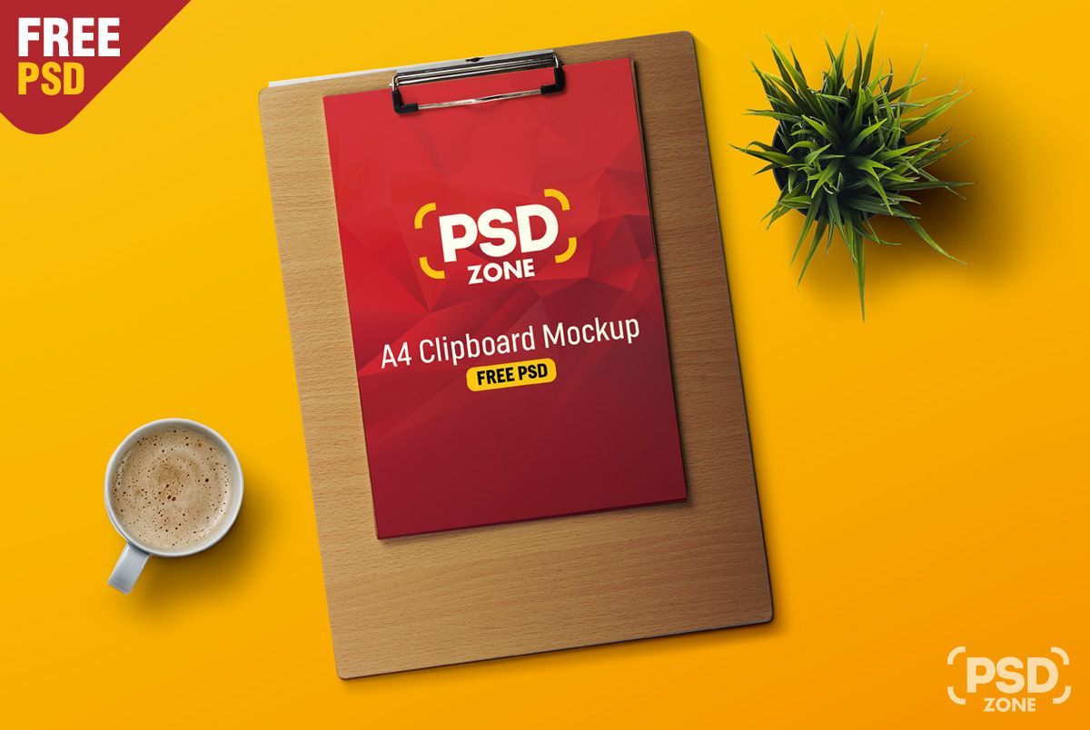 Todays Freebie is a A4 Paper Clipboard Mockup which is available