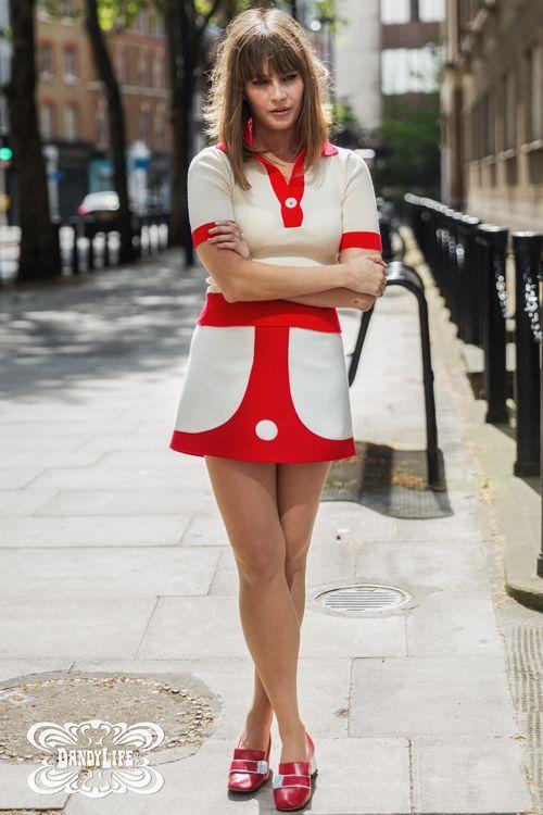 dandylife womens 1960s style mini skirt 60s style