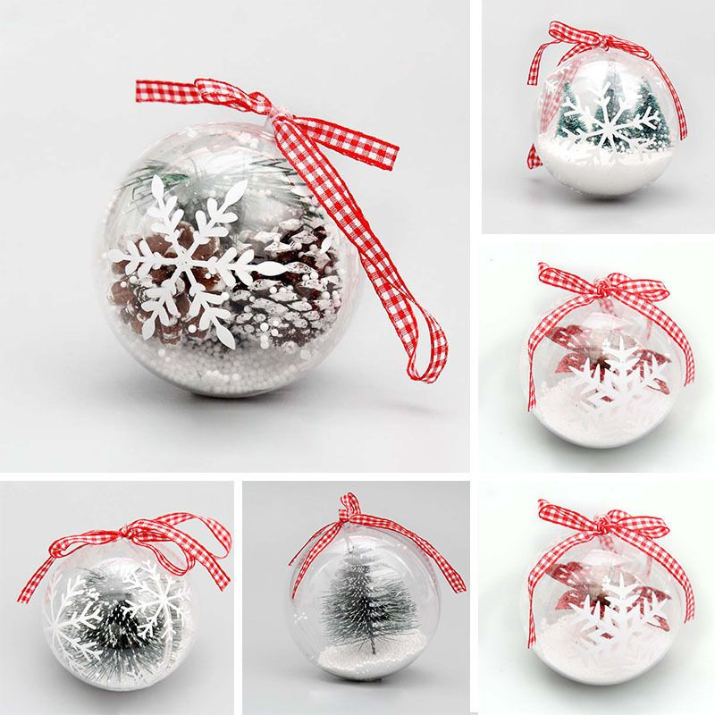 Hanging Ball Christmas Baubles Clear Fillable Xmas Tree Decorations Ornaments Xmas Tree Decorations Painted Christmas Ornaments Xmas Baubles