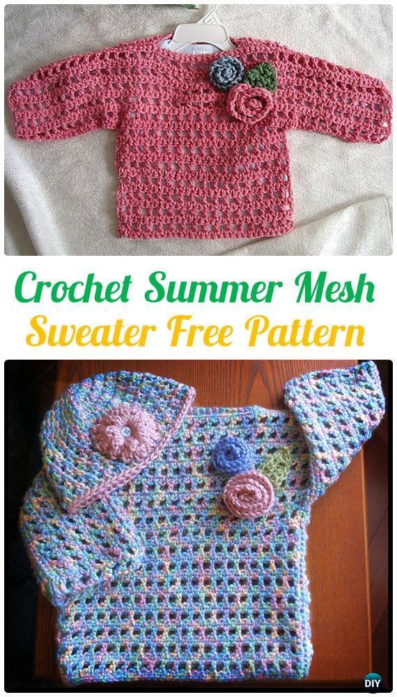 Ganchillo acoplamiento del verano del suéter del patrón libre ...