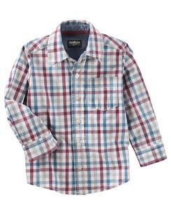 20b348f456b6 Checkered Button-Front Shirt