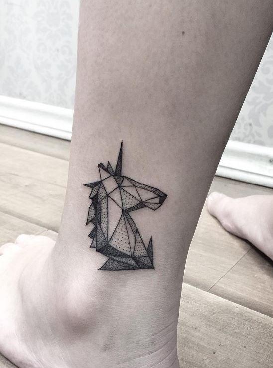 Geometric Unicorn Tattoo