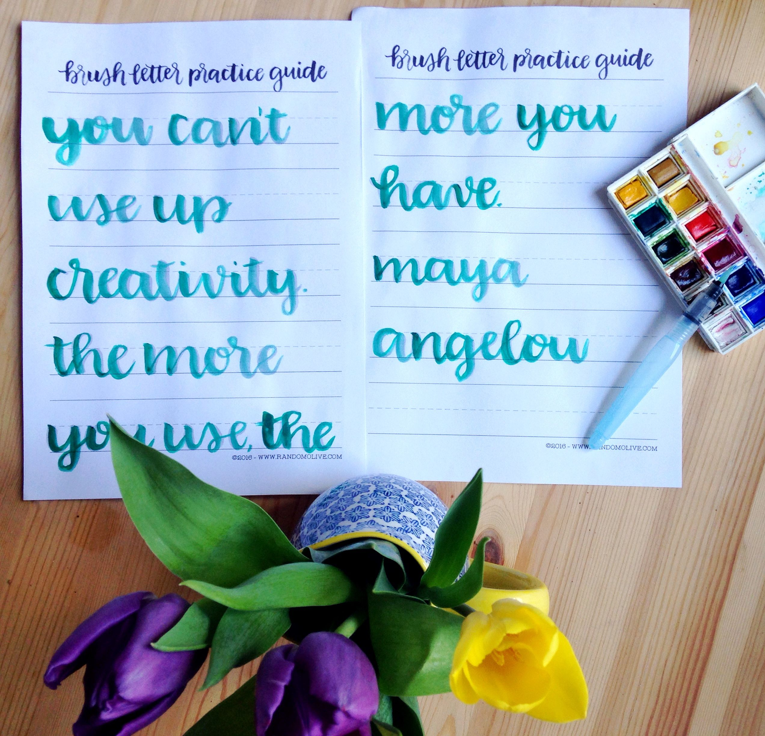 Maya Angelou Quote Brush Letter Art With Free Printable