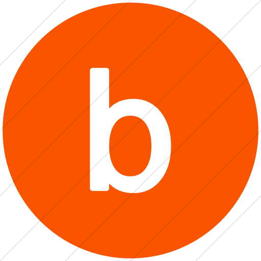 Iconsetc Flat Circle White On Orange Alphanumerics Lowercase Letter B Icon Lower Case Letters Letter B Lettering