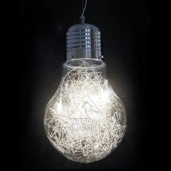 Arrow Giant Retro Light Bulb Ceiling Pendant Light Large Light