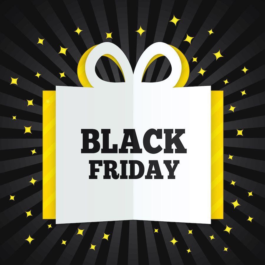Black friday sale on now black