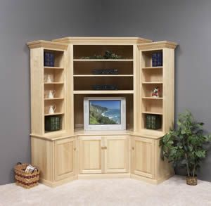 Corner entertainment center Awesome. Space saver and the
