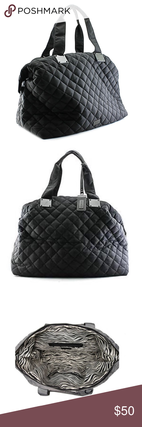 Steve Madden Weekend Bag This is a fun travel overnight/weekend bag. It's like new. Steve Madden Bags Travel Bags