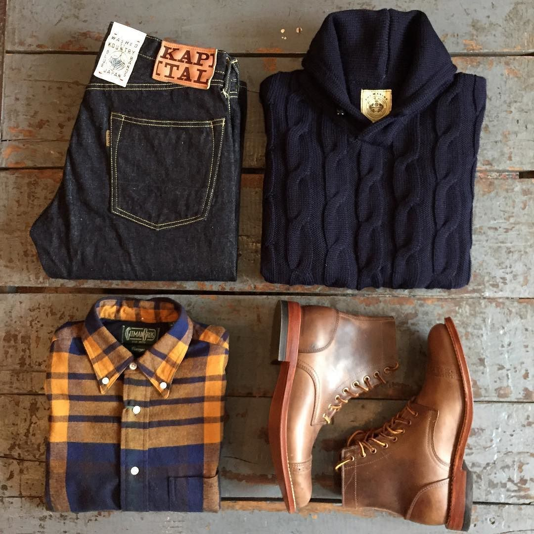 Perfect outfit for fall via @independencechicago with Oak Street Bootmakers Trench Boots. Link in profile to the boots! #oakstreetbootmakers #finestquality #madeinusa #horween #kapital #gitmanvintage #northseaclothing #independencechicago http://ift.tt/1Q59IJV