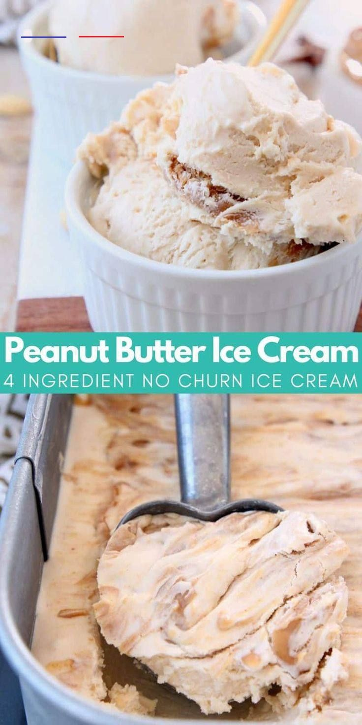 Easy no churn peanut butter ice cream