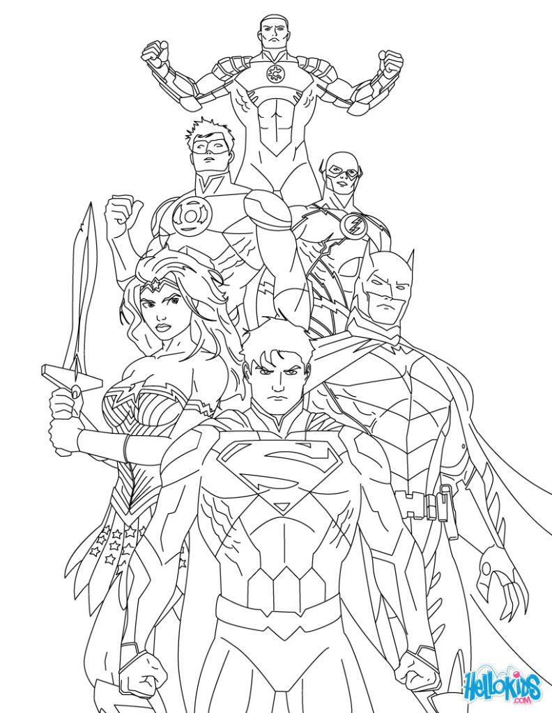 Printable Justice League Free Coloring Pages For Kids Enjoy