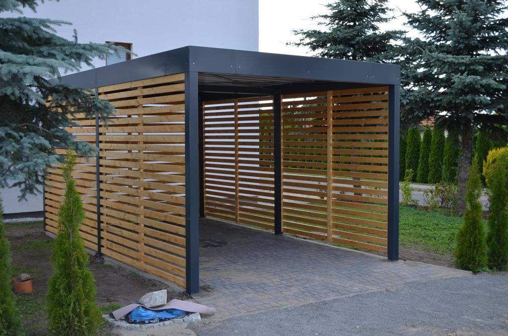 Smart Carport Nowoczesna Wiata Garazowa Hit Zdjecie Na Imged Carport Designs Carport Garage House Front