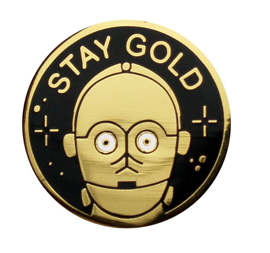 """C3PO PIN // the only reason I'm pinning this is because until I find a """"stay gold, ponyboy"""" pin this is going to have to do. #outsiders"""