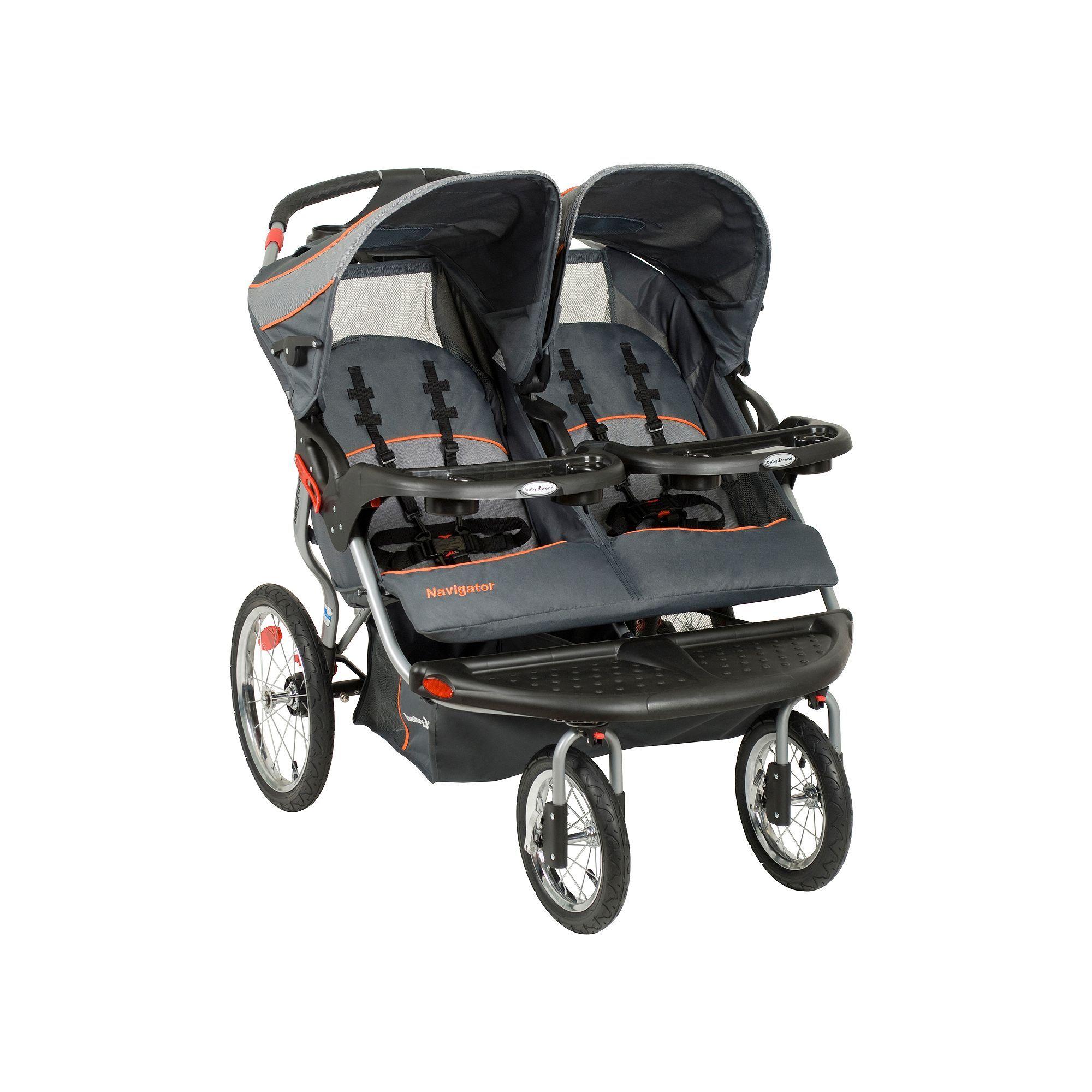 Baby Trend Navigator Double Jogging Stroller Grey