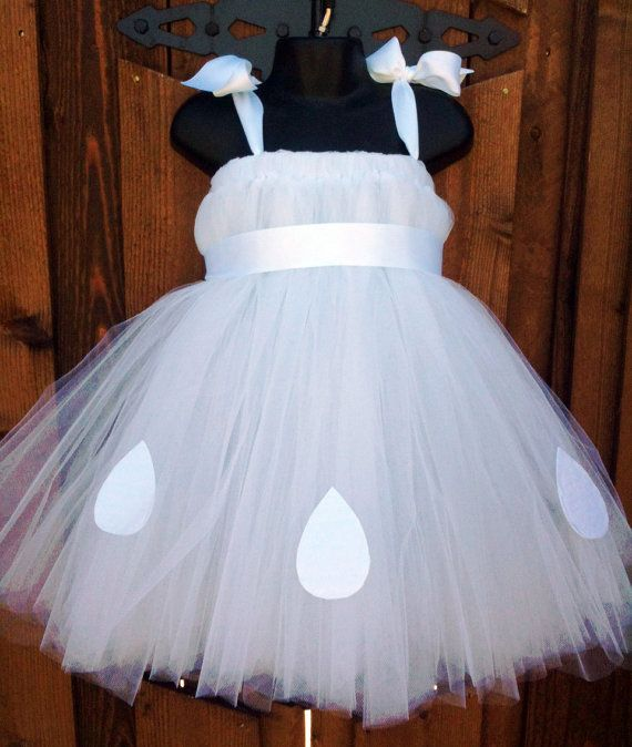 Smurfette Style White Tutu Dress Costume Size 2T4T by - 1 year old halloween costume ideas