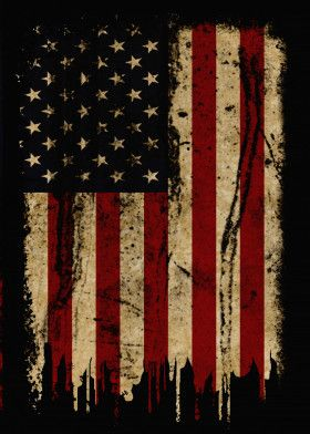 USA Vintage Flag DEC18 Vintage Posters Poster Print | metal posters - Displate