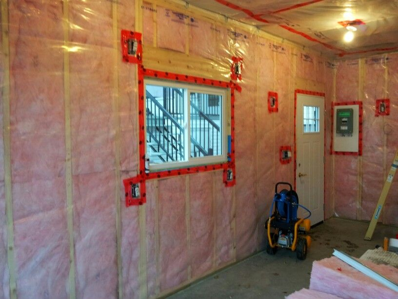Insulation And Vapour Barrier Stage Motorcycle Garage