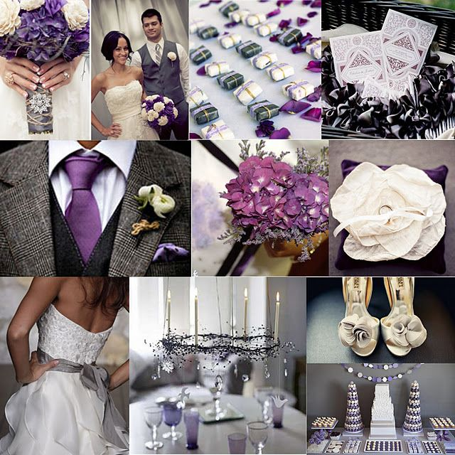 eggplant charcoal wedding theme but maybe lavender and dove grey for spring pinterest. Black Bedroom Furniture Sets. Home Design Ideas