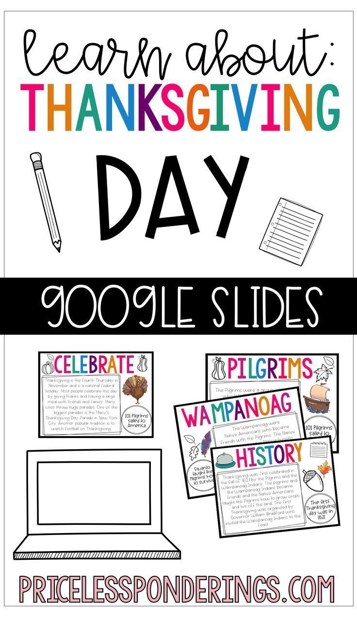 Thanksgiving Day Slides and Activities Social studies