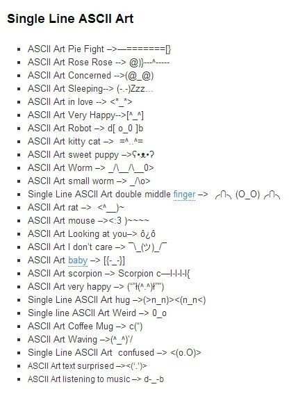 1 Line Ascii Art : ascii, Single, ASCII, Pictures, Texts, Ascii, Ascii,