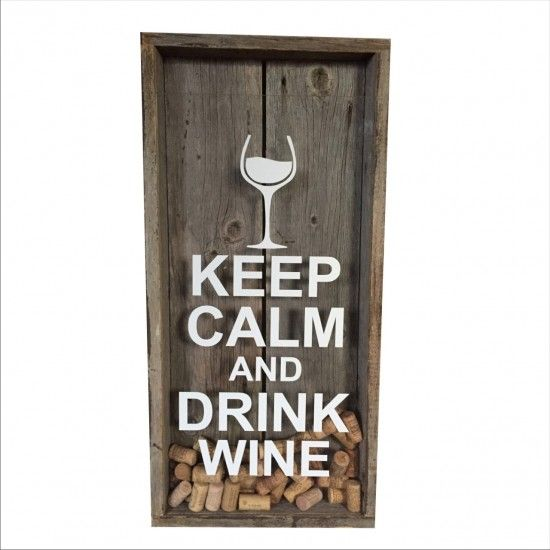 keep calm drink wine cadre bouchons de vin cuisine pinterest. Black Bedroom Furniture Sets. Home Design Ideas