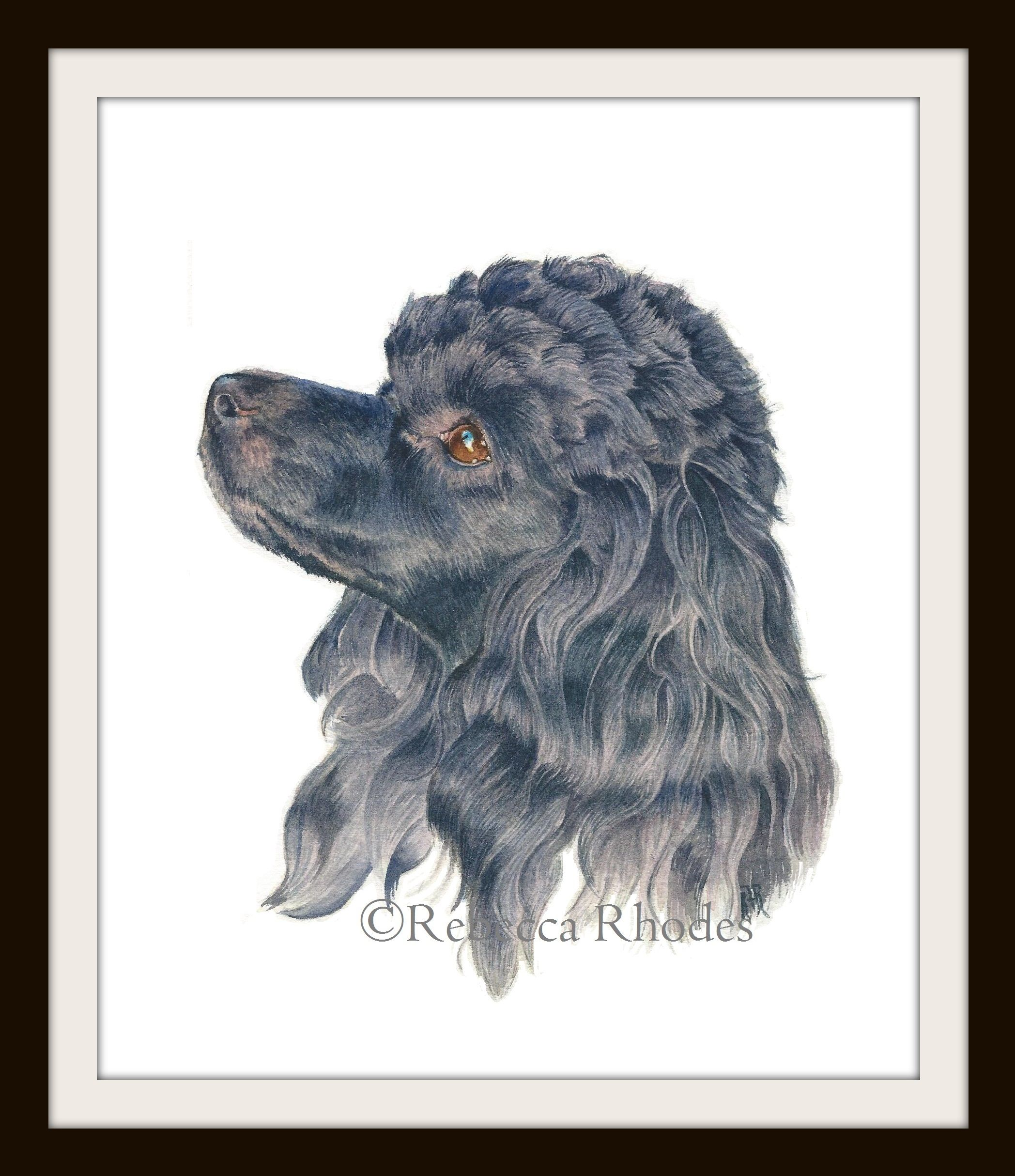 """""""Kenzi the Mini Poodle"""" 8 x 10 inch Original Watercolor Painting Arches Cold Press Paper $150.00"""