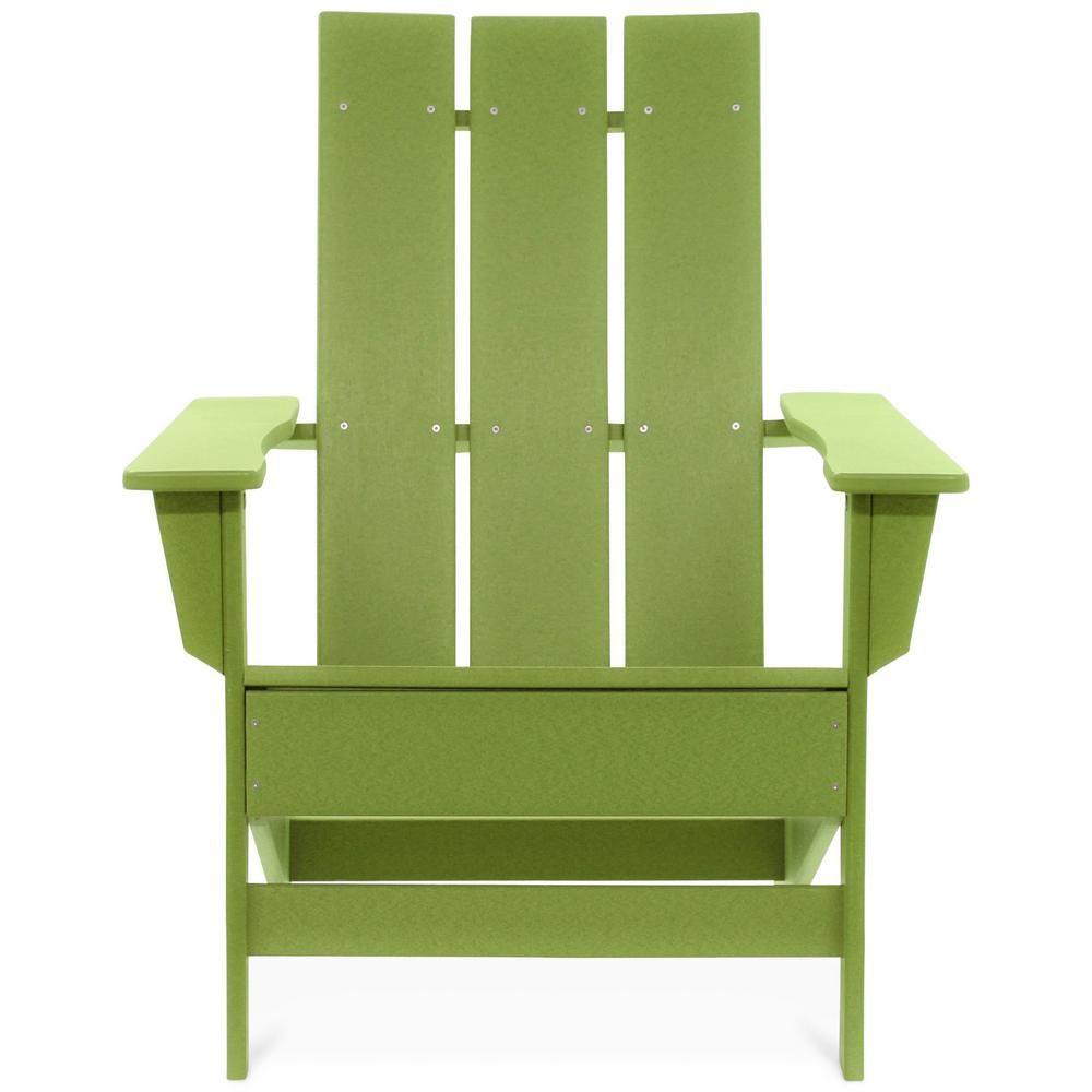 Durogreen Aria Lime Recycled Plastic Modern Adirondack Chair