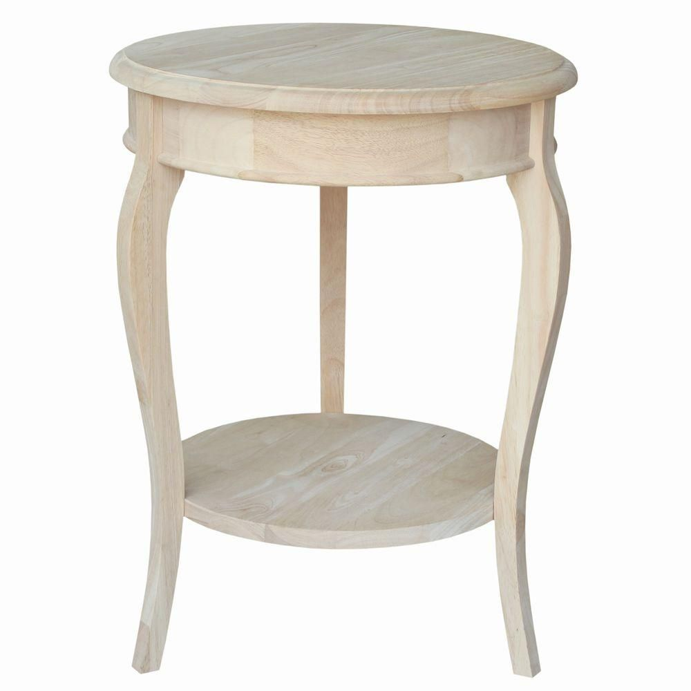Cambria Unfinished End Table Wood