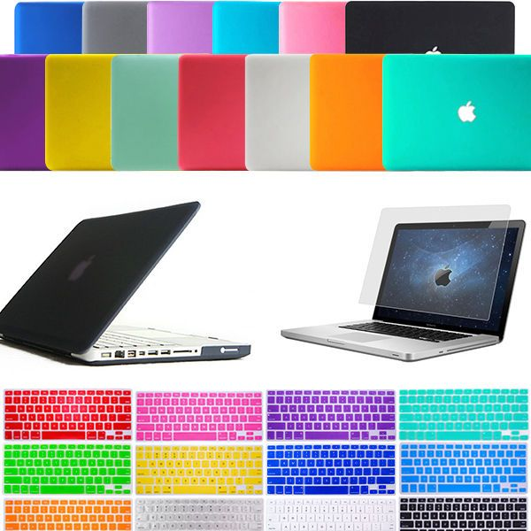 """Mouse 5in1 Crystal TIFANY BLUE  Case for Macbook PRO 13/""""+Keyboard Cover+LCD+Bag"""